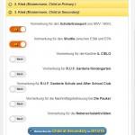"""5. Choose the services and click at the blue button """"Vormerken für Child XXX in 2016/17"""""""