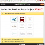 4.1 Now you can book the 'Vorgemerkte' Services